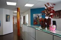 Eingangsbereich und Anmeldung